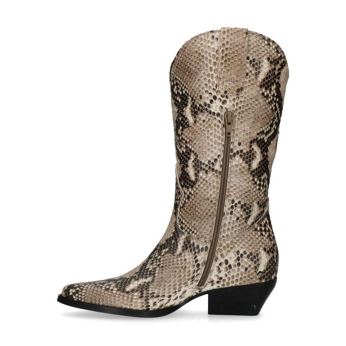 Cowboystiefel mit Schlangenmuster