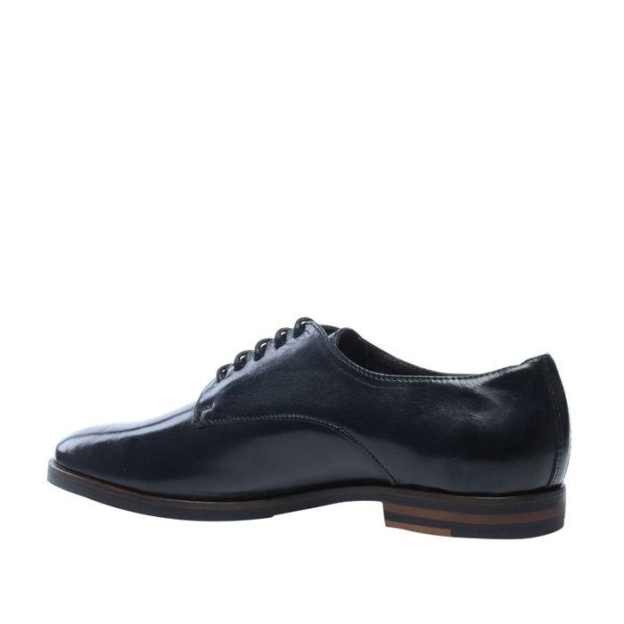 Derby-Schnürschuhe schwarz