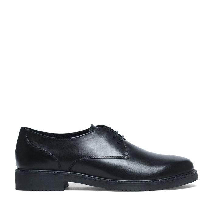 Damen-Schnürschuhe schwarz