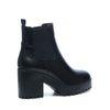 Schwarze Chelsea Stiefel mit Plateau-Sohle