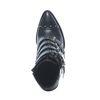 Schwarze Stiefeletten mit Nieten und Schnallen