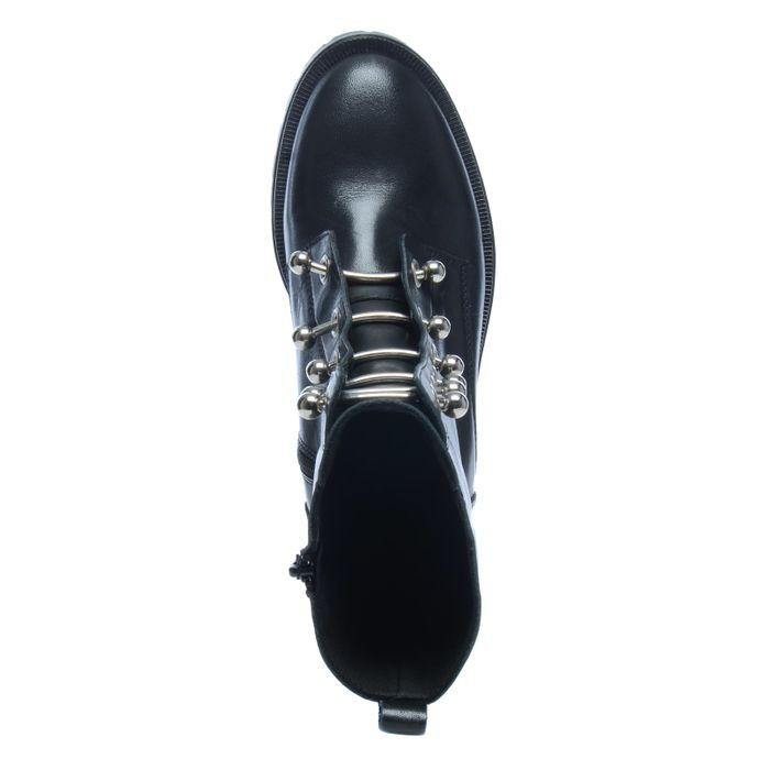 Schwarze Biker Stiefel mit metallenen Details