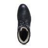 Schwarze Schnürstiefeletten mit Kunstfell