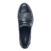 Schwarze Loafer mit Fransen und Nieten