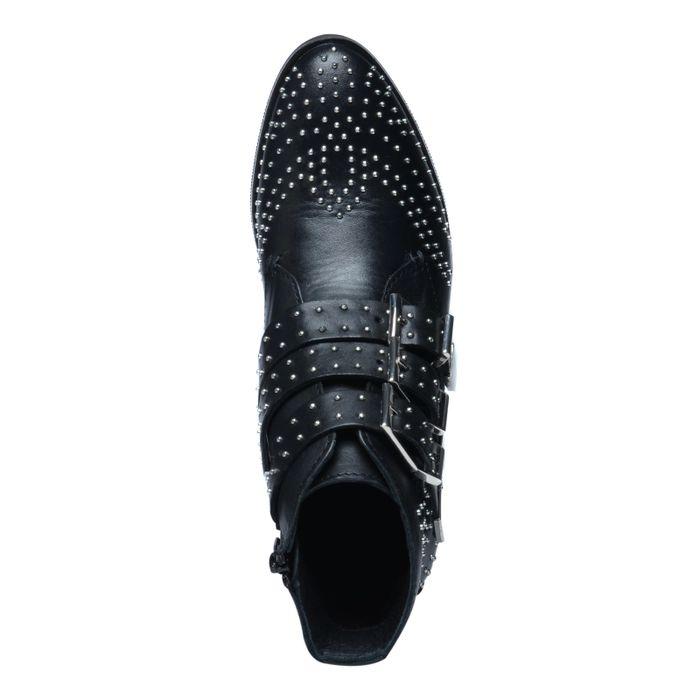 Schwarze Buckle Boots