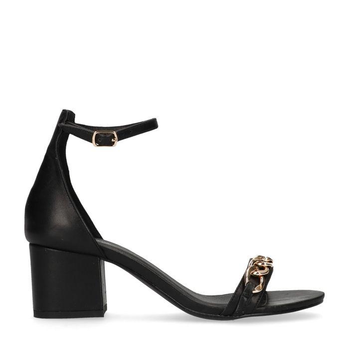 Schwarze Sandaletten mit Detail