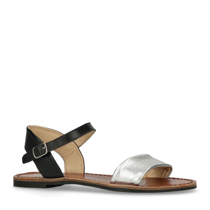 Schwarz-silberne Sandalen