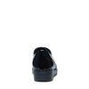 Schwarze Lack-Schnürschuhe mit Brogue-Details