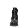 Schwarze Buckle Boots mit Nieten