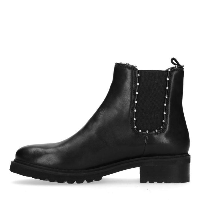 Schwarze Chelsea Boots mit Nieten