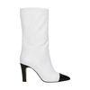 Kurze weiße Stiefel mit Absatz