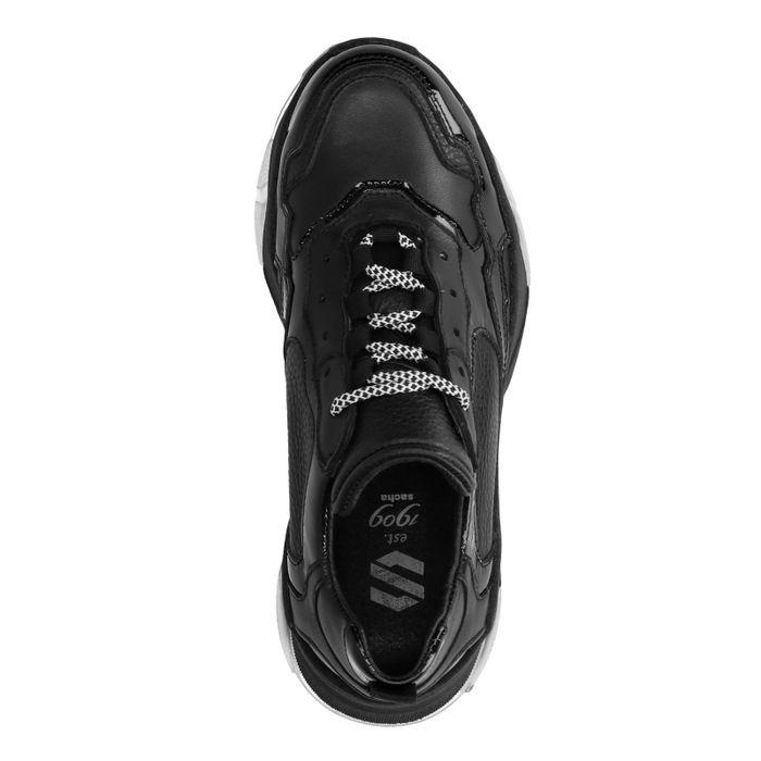 Schwarze Dad-Sneaker