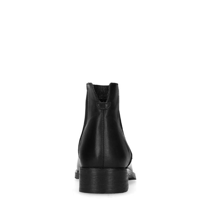 Schwarze Chelsea Boots mit kleinen Nieten