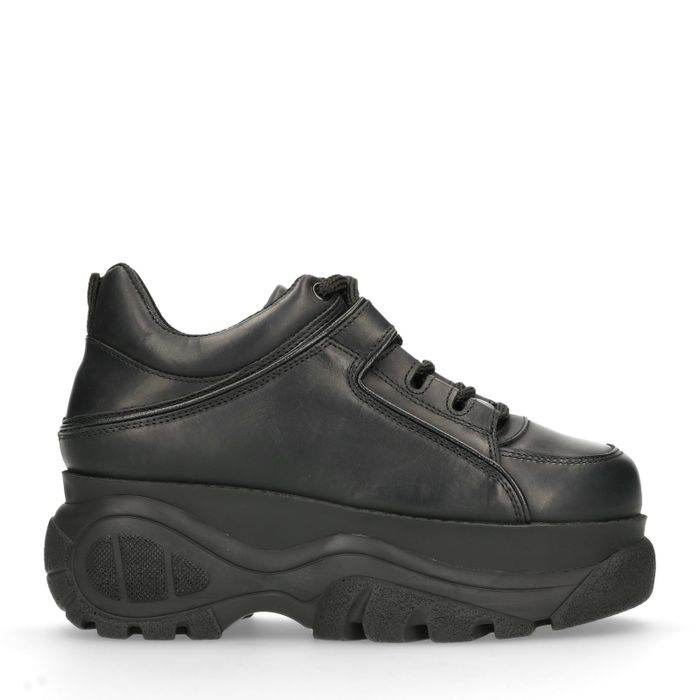 Schwarze Dad-Sneaker mit Plateausohle