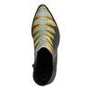 Schwarze Snake-Stiefeletten mit gelben Akzenten