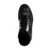 Schwarze Leder-Schnürstiefel