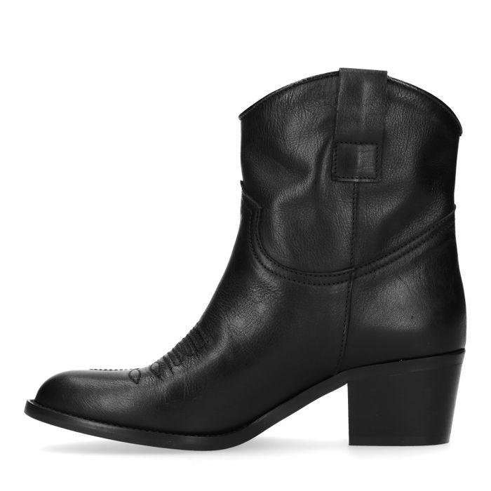 Schwarze Westernstiefel aus Leder