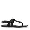 Schwarze Sandalen mit Flecht-Detail