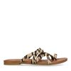 Braune Sandalen mit Zebramuster