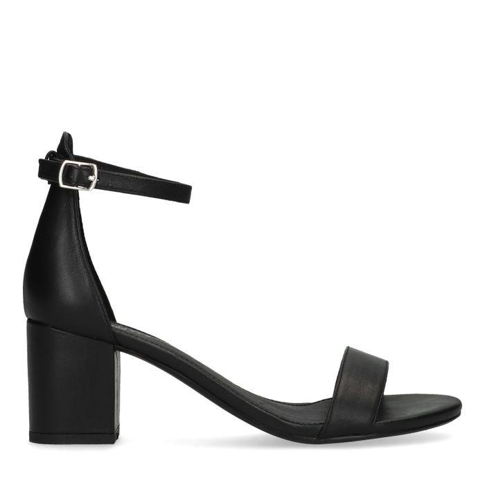 ba82a2a3d68870 Schwarze Leder-Sandaletten - Damenschuhe – SACHA