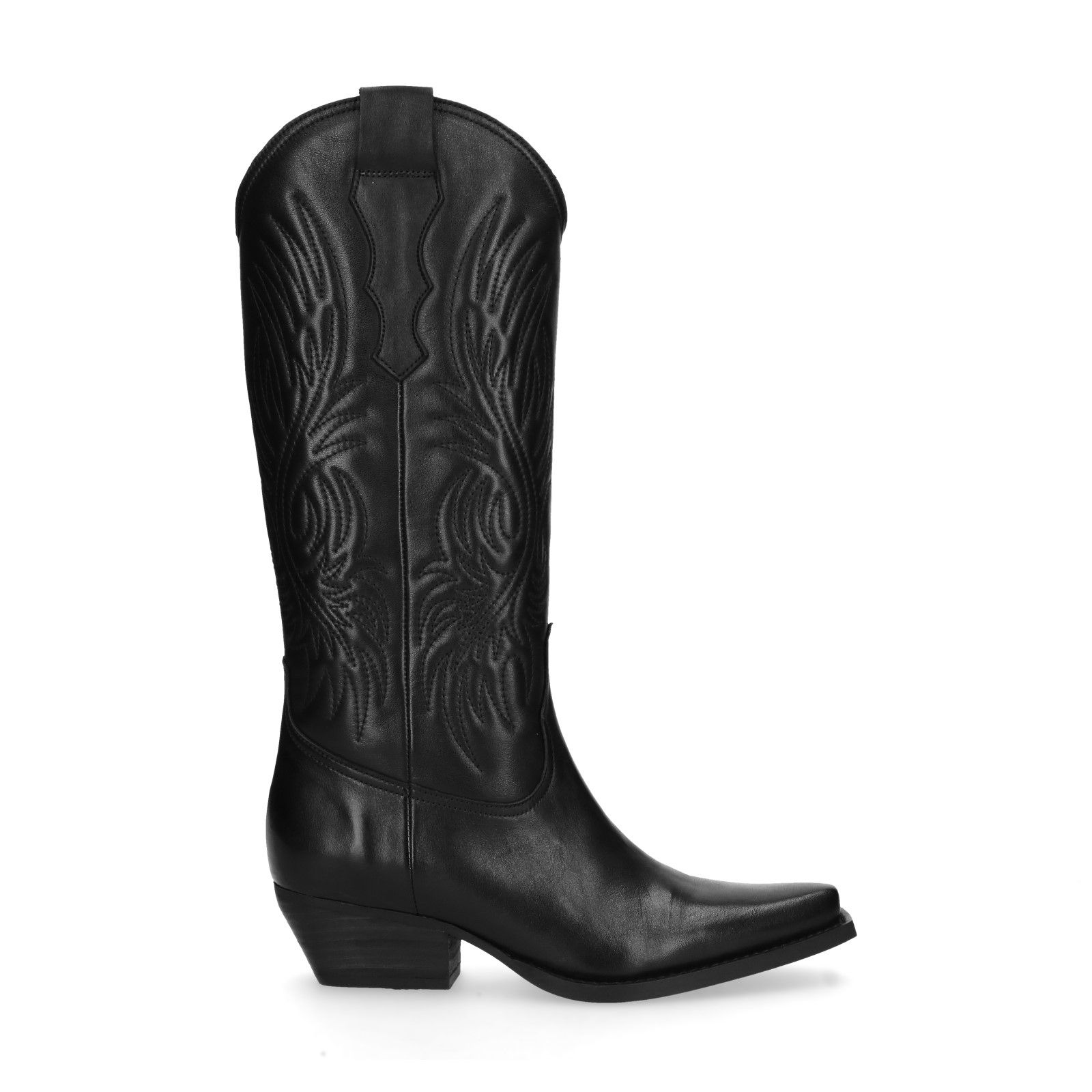 Schwarze Cowboystiefel aus Leder Damenschuhe – SACHA