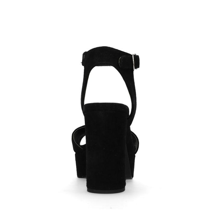 Schwarze Sandaletten mit Blockabsatz