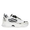 Weiße Dad-Sneaker mit Zebramuster
