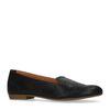 Schwarze Leder-Loafer mit Prägung
