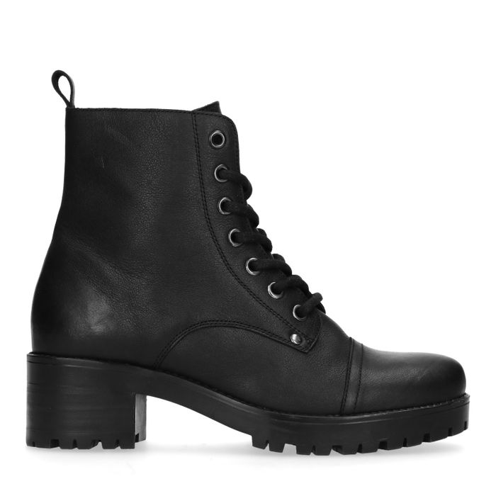 best authentic 4da7d e3ddb Sacha Schwarze Biker Boots mit Blockabsatz