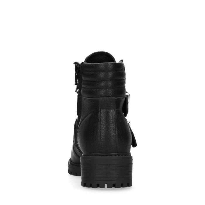 Schwarze Biker Boots