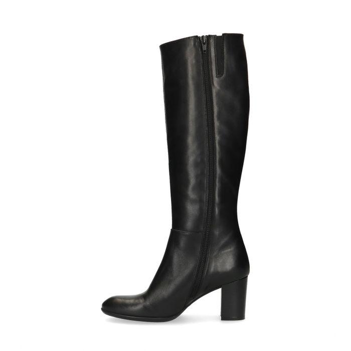 Hohe schwarze Absatz-Stiefel