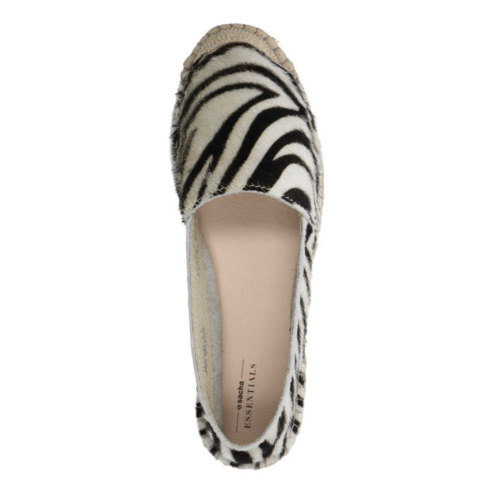 Espadrilles mit Zebramuster