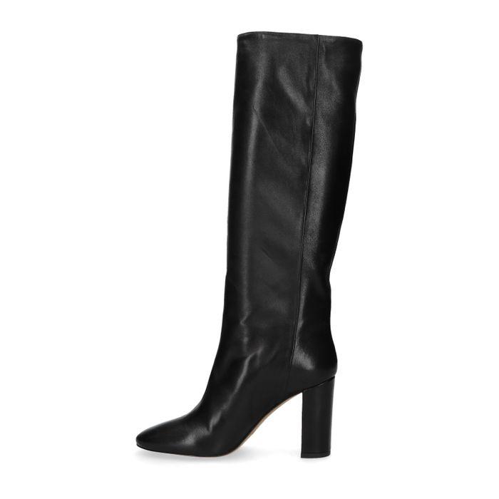 Hohe schwarze Stiefel aus Leder