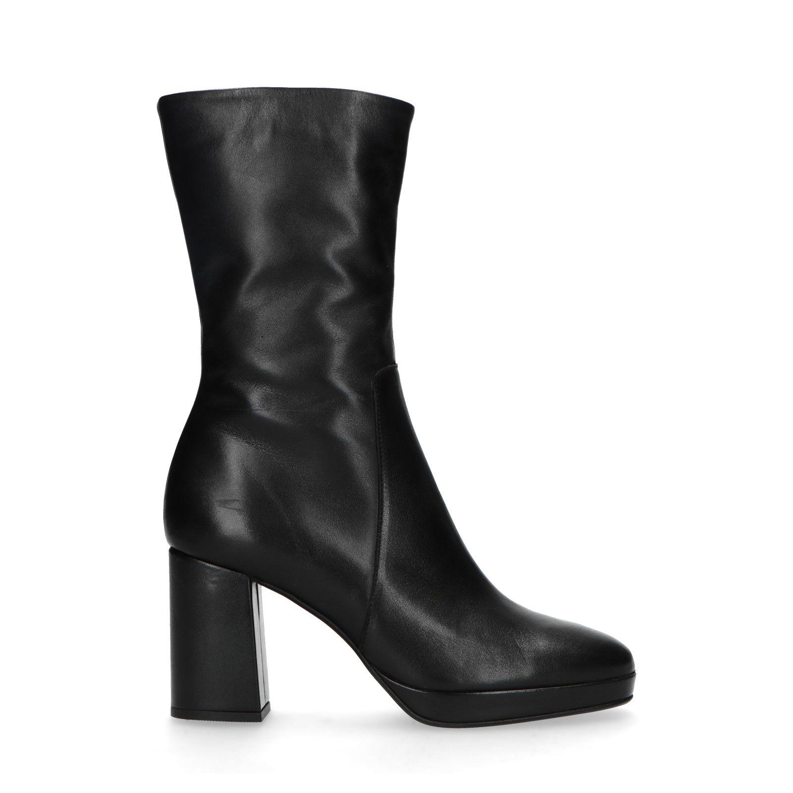 Sacha Kurze schwarze Stiefel mit Absatz