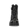 Schwarze Schnürstiefeletten mit flachem Absatz