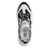 Dad-Sneaker mit Zebramuster und Neon-Detail