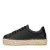 Schwarze Sneaker mit Plateausohle