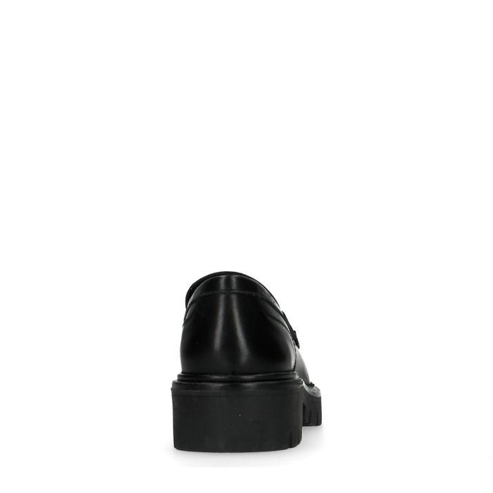 Schwarze Loafer mit Plateausohle