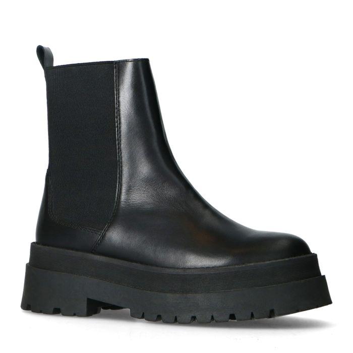Kurze Chelsea Boots aus Leder
