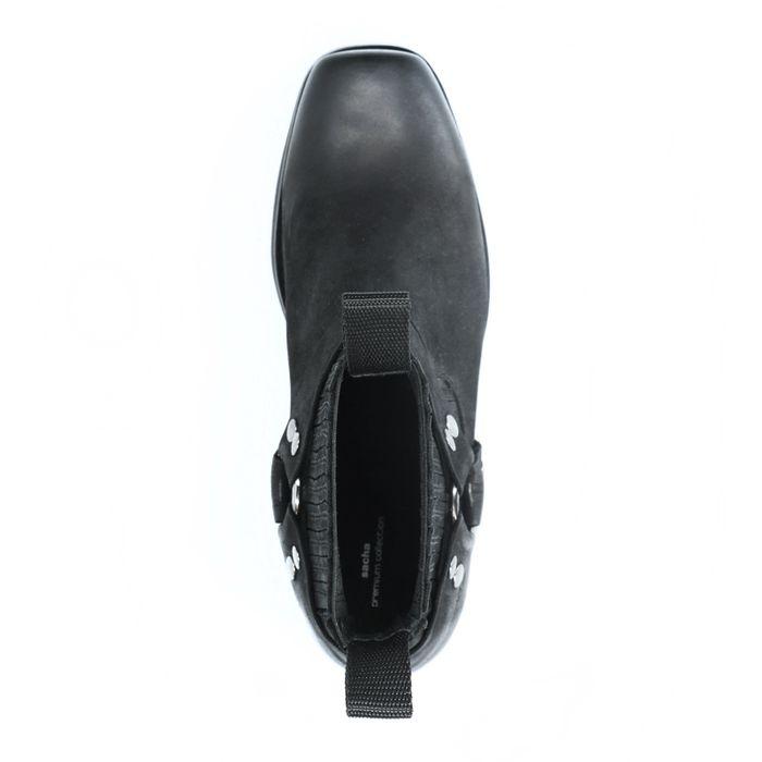 Schwarze Stiefeletten mit Schnallen