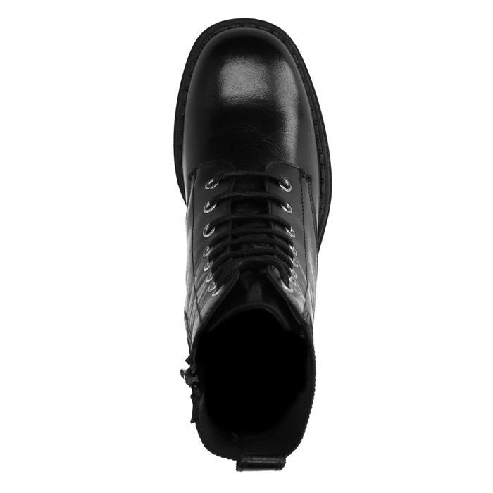 Schwarze Schnürstiefel mit Absatz