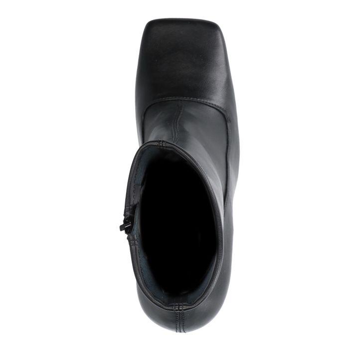 Schwarze Stiefeletten mit eckiger Kappe