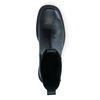 Schwarze Chelsea Boots aus Leder mit Plateausohle