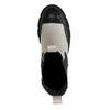 Lattefarbene Chelsea Boots mit schwarzen Details