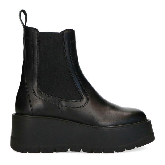 Schwarze Chelsea Boots mit Plateausohle