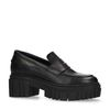 Chunky schwarze Leder-Loafer