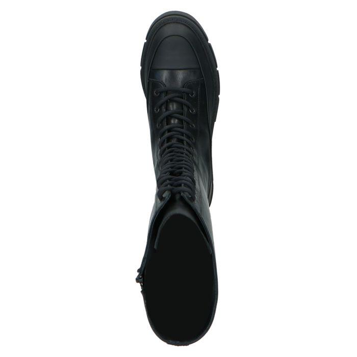 Schwarze Schnürstiefel mit hohem Schaft