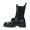 Schwarze Chelsea Boots mit Kette