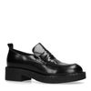 Schwarze Leder-Loafer