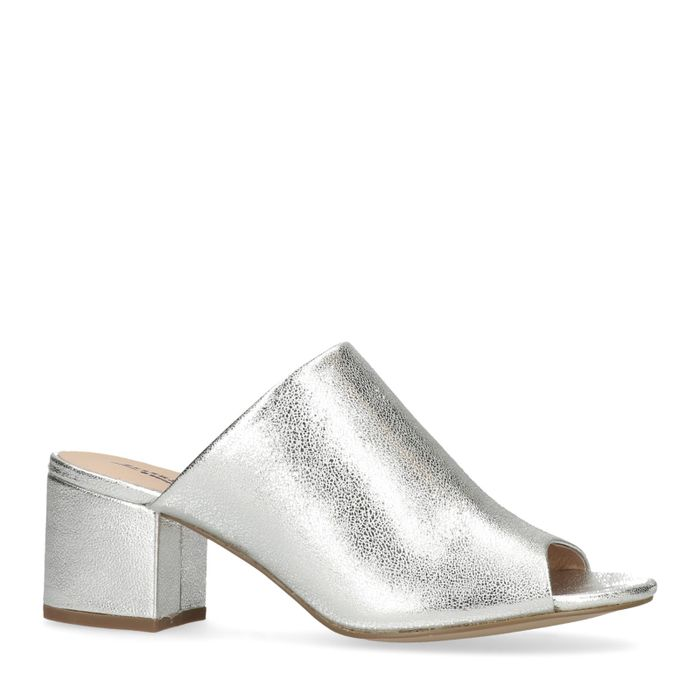Mules in Metallic-Silber